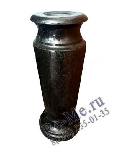 Гранитная ваза Габбро большая