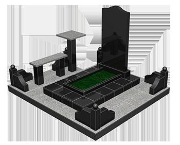 Плитка для памятника на кладбище