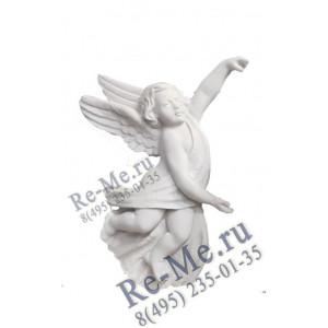 Ангел барельеф маленький (белый) №54