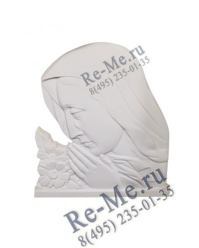 Молящая барельеф (белый) №70