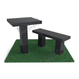 Гранитная лавка и стол №1