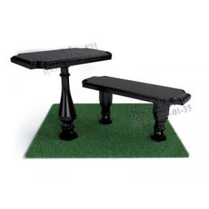 Литьевая лавка и стол