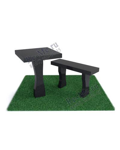 Гранитная лавка и стол №3