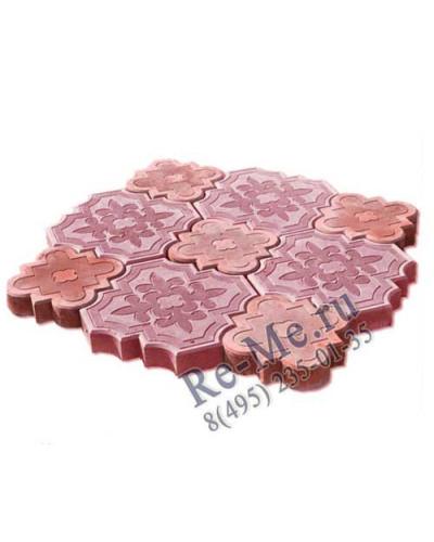 Тротуарная плитка Клевер (красная)