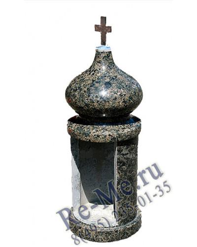Лампадка из гранита Масловка без стекла №12