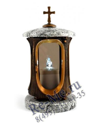 Лампадка Покост с золотом со стеклом №32