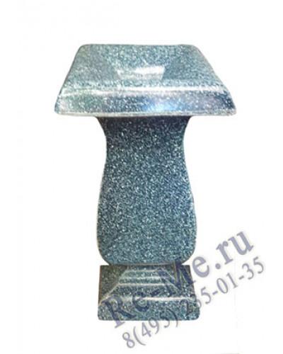 Квадратная ваза из литьевого мрамора
