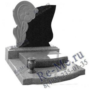 Комплекс с надгробной плитой и вазочкой g372