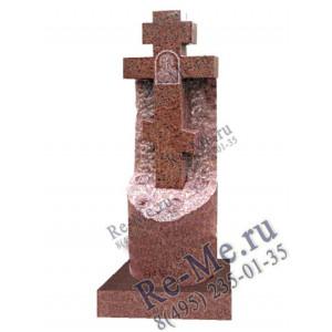 Красный крест-колонна на могилу g406