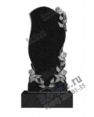 Памятник из гранита с волной и розами g452