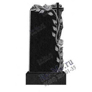 Памятник из гранита с крестом и резными розами g454