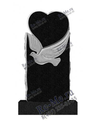 Памятник из гранита в виде птицы с сердцем g582