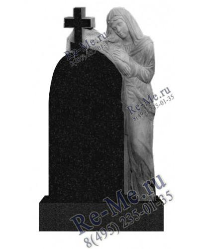 Памятник гранитный скорбящая обнимающая крест g741
