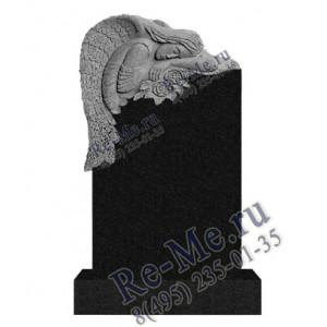 Памятник из гранита скорбящий ангел с розами g742