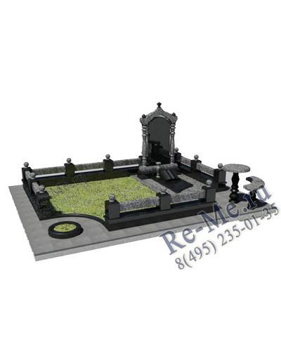 Комплекс из гранита с аркой, столом и лавкой g777