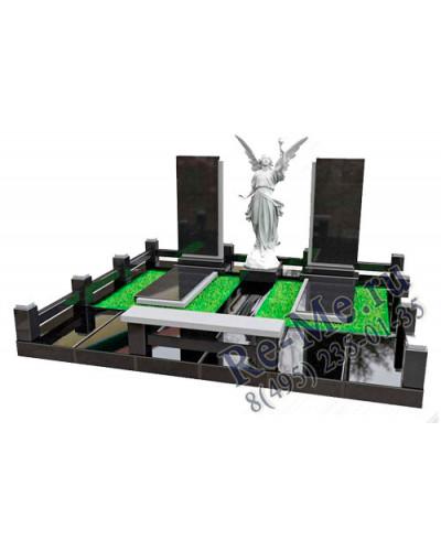 Эксклюзивный гранитный комплекс с фигурой ангела и надгробными плитами g803