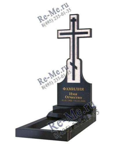 Памятник в виде креста с гравировкой g870