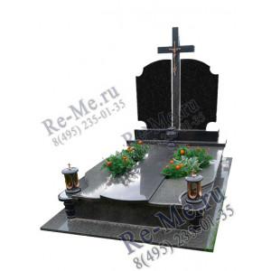 Комплекс памятников для двоих из гранита с крестомg916