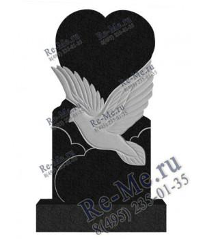 Памятник с летящей птицей из гранита g109