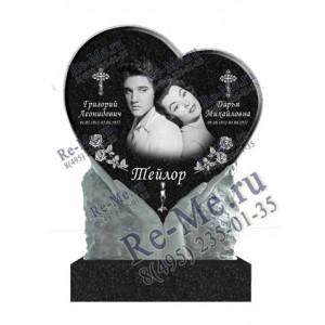 Памятник на двоих с сердцем в руках g112