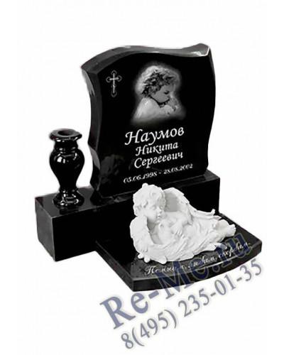 Памятник из гранита детский с фигуркой ангела g150