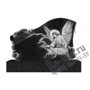 Памятник из гранита с гравировкой небес и ангела g280