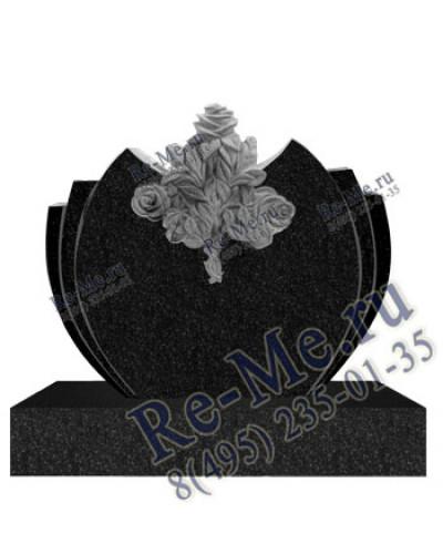 Памятник с розами резной симметричный g342
