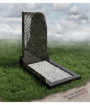 Гранитный памятник с плачущей ивой g379