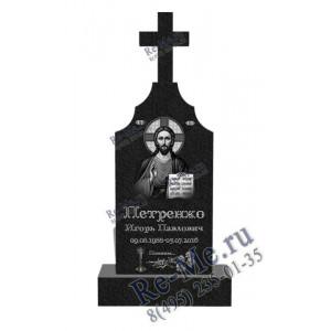 Высокая стела на могилу с крестом g50