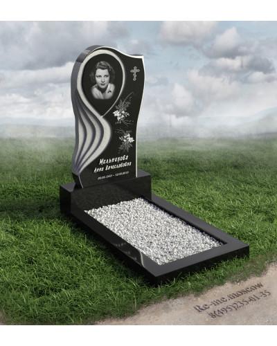 Надгробие из гранита с резкой в форме слезы g600