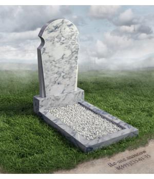 Гранитный памятник с гравировкой голубей и свитка g601