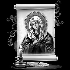 Изображение с иконой для нанесения на памятник