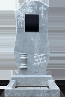 Памятник из серого мрамора